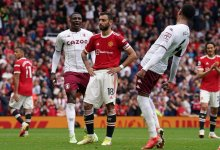 Photo of Hause scores as Aston Villa silence Manchester United at Old Trafford