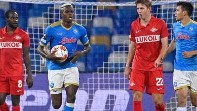 Photo of Osimhen scores as Moses' Spartak Moscow defeat Napoli