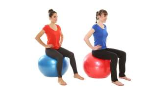 How to sit on a stability ball at work