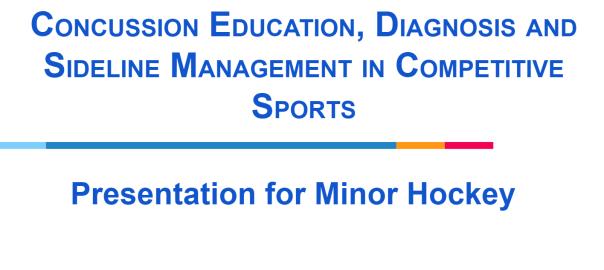 Minor Hockey Concussion Presentation