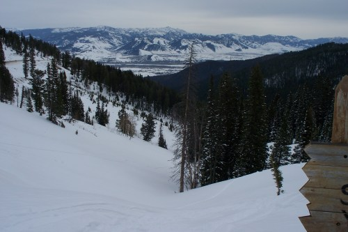 looking down from the Teton pass