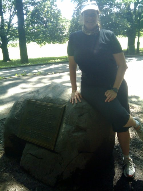 Rock marks the place where the island of Manhattan was sold to the Dutch