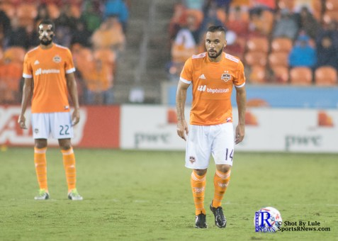 Houston Dynamo Midfielder Alex #14 During a game between the Houston Dynamo and Columbus Crew SC, week 2 of the 2017 MLS season.The Dynamo would win by a score of 3-1.