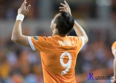 Houston Dynamo Forward Erick Torres #9 celebrates goal number 2During a Match between the Houston Dynamo vs The New York Red bulls April 1,2017 BBVA Compass Stadium