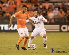 During a match between the Houston Dynamo vs Vancouver White Caps, Final Score Dynamo 2-Whitecaps 1,Week 11 of the MLS.Houston Tx, 2017