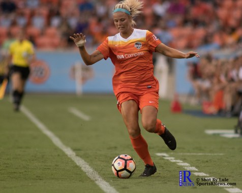 Houston Dash Forward Rachel Daly #3 During a match between the Houston Dash vs Orlando Pride Final Score Dash 2,Orlando 4 ,Houston Tx, 2017.