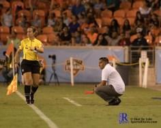 interim Head Coach Omar Morales During a match between the Houston Dash vs Orlando Pride Final Score Dash 2,Orlando 4 ,Houston Tx, 2017.