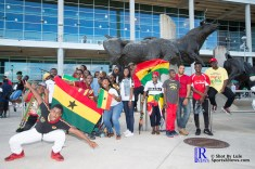 Ghana Fans Get ready prior to friendly Match between Mexico National Team and Ghana National Team at NRG Stadium,June 28,2017 Houston Tx.