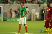 Mexico's Forward Elias Hernandez #11 gets ready to take a Penalty Kick . During a match between Mexico National Team and Ghana National Team at NRG Stadium ,June 28,2017 Houston Tx.