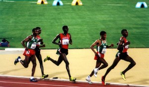 Mens 10000m sydney 2000 olympics Haile Gebrselassie. Photo by Flickr user Ian @ ThePaperboy.com