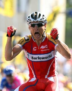 Robbie Hunter, a South African cyclist on the South African entry Barloworld won Stage 11 in the Tour de France