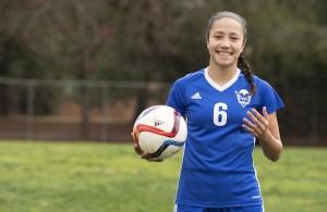 Davis soccer phenom, Maya Doms poses for her photo shoot