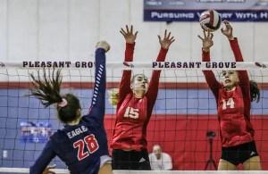 St. Francis volleyball, Lara Chappuie, Kathryn Kramer