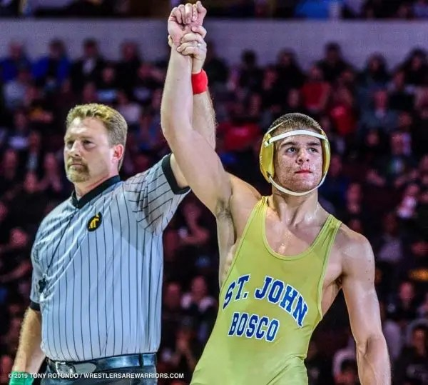182 lb high school wreslter Nathan Haas (St. John Bosco, S) #1 CA/#9 Nation