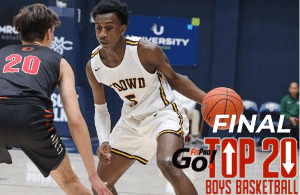 Final NorCal Boys Basketball Rankings, Marsalis Roberson, Bishop O'Dowd
