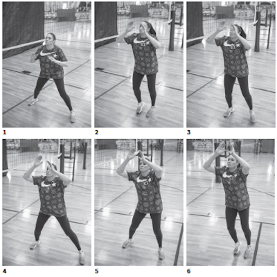 Lindsey Berg, Team USA Volleyball setter; Shuffle, shuffle footwork is an efficient way to get your feet to the ball.