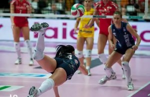 Volleyball Footwork-save steps by reading the game.