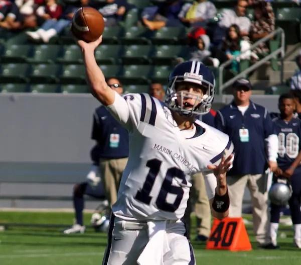 Jared Goff, Marin Catholic, Football