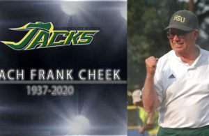 Legendary Humboldt State Coach Frank Cheek passed away at the age of 82. His long career at included 22 years coaching wrestling and 25 years coaching softball.