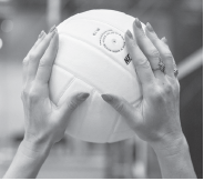 "Lindsey Berg, USA Volleyball setter, use the ""W"" hand position for better control"
