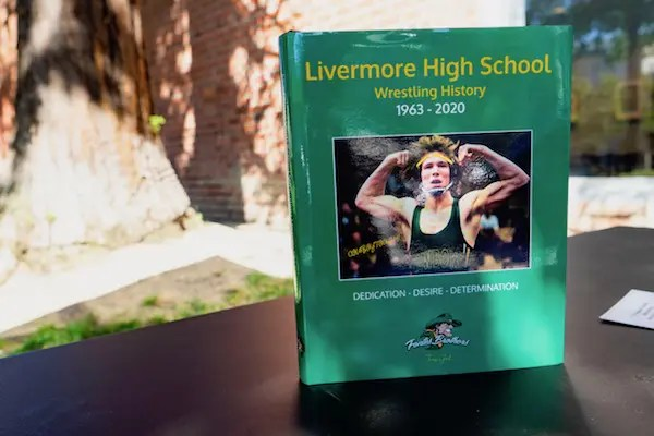 our new book (a yearbook actually covering 1963 to current) that my brother, Aaron and I created on the history of our alma mater, Livermore High School wrestling.