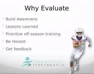 Mental training for elite athletes means post season performance evaluations. They're a necessity for peak performance.