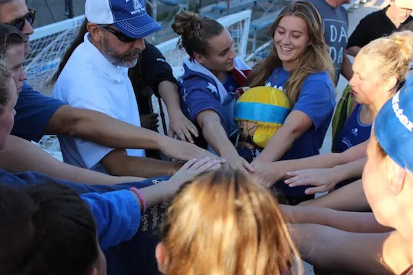 Acalanes girls water polo, huddle, team of the year