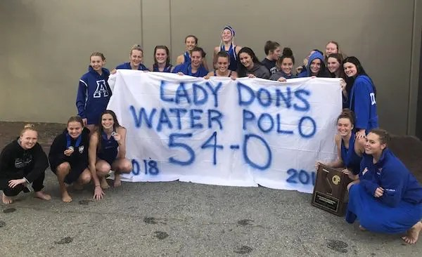 Acalanes girls water polo, Team of the Year, Undefeated