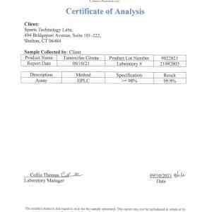tamoxifen certificate of analysis coa