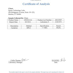 GW501516 certificate of analysis