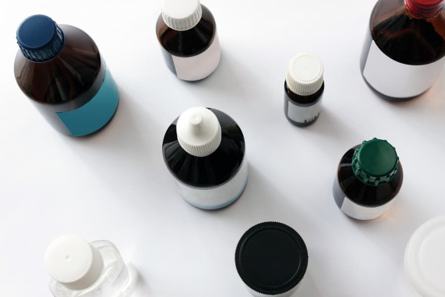 a group of empty SARMs bottles
