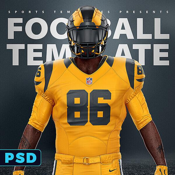 Download Football Uniform Template Mockup V2.0 - Sports Templates