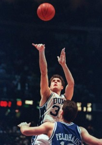 Christian Laettner's game-winning shot ended one of the great games in NCAA Tournament history.