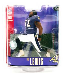 Ray Lewis Baltimore Ravens Purple Jersey Chase Figure