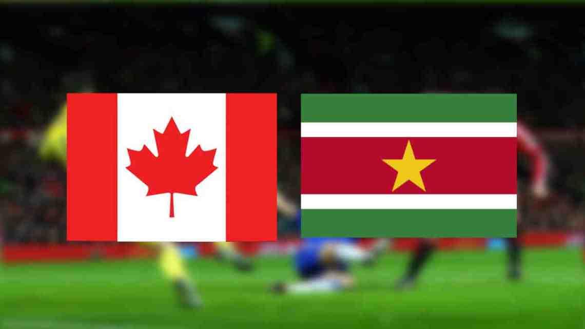 WK kwalificatie Canada - Suriname Livestream