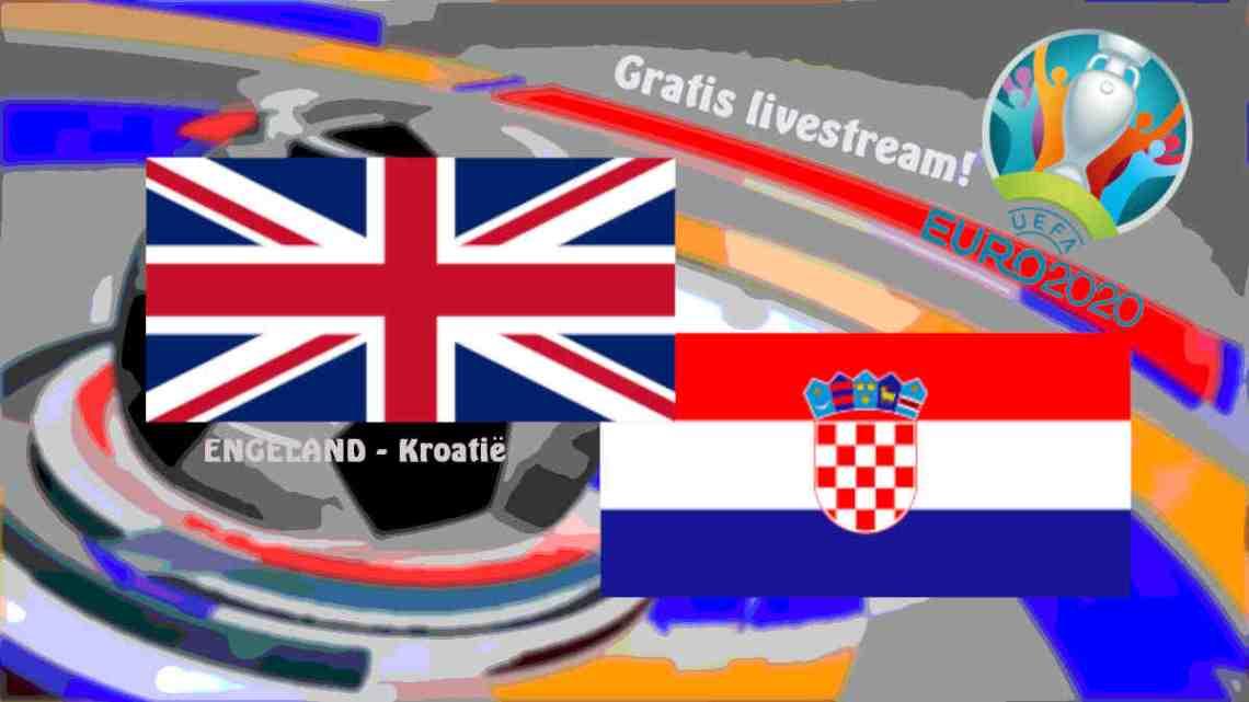UEFA EURO2020: Livestream Engeland - Kroatië