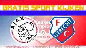 Livestream Jong Ajax vs Jong FC Utrecht