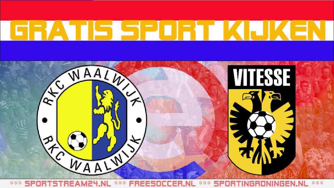 Livestream RKC Waalwijk vs Vitesse