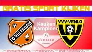 Livestream FC Volendam vs VVV Venlo