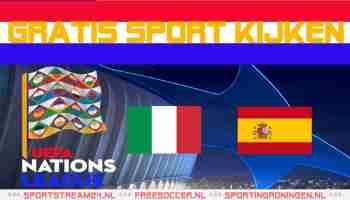 Livestream Italië vs Spanje