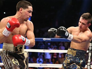 Danny Garcia (left) taking out Rod Salka (right)