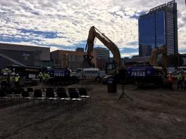 The arena groundbreaking in downtown Sacramento, Calif. (Courtesy of Sactown Royalty's Facebook)
