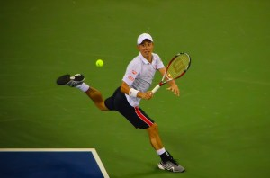 Kei Nishikori. Photo by Angela N. Some rights reserved.