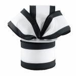 Black and White Horizontal Stripe Ribbon