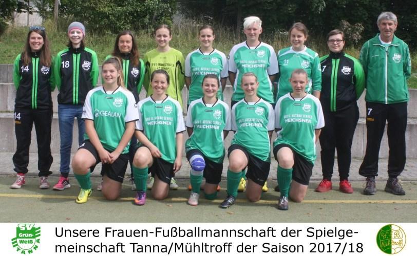 Frauen der SG Tanna/Mühltroff im Finale