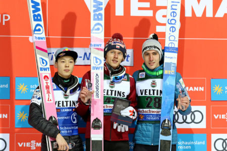WC Titisee-Neustadt 2020 -  1. Dawid Kubacki, 2. Ryōyū Kobayashi, 3. Timi Zajc