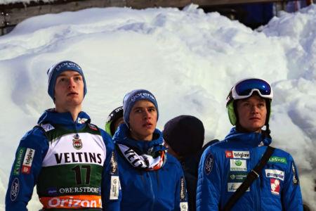 WC Oberstdorf 2019 - Žiga Jelar, Tilen Bartol, Anže Lanišek