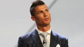 Real Madrid's Portuguese forward Cristiano Ronaldo looks on at the end of the UEFA Champions League Group stage draw ceremony, on August 25, 2016 in Monaco. AFP PHOTO / VALERY HACHE / AFP / VALERY HACHE (Photo credit should read VALERY HACHE/AFP/Getty Images)