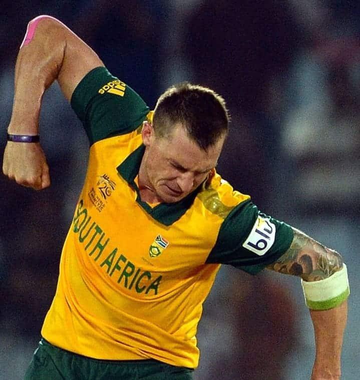 Dale Steyn celebrates wicket of Kane Williamson