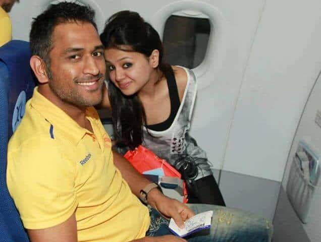 Sakshi Dhoni with Mahendra Singh Dhoni